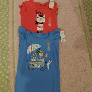 Two Gymboree t-shirts, size 5-6